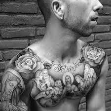 mens betrayal jesus last supper chest tattoo tattoos pinterest