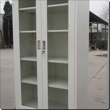 Glass Door Bookshelf White Glass Door Bookcase Steel Bookcase With Glass Door Double