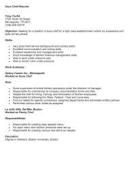 Chef Skills Resume Example Chef Resume Chef Resume Sample Examples Sous Chef Jobs