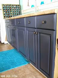 slate blue painted kitchen cabinets nine painting the kitchen cabinets part 2 kitchen