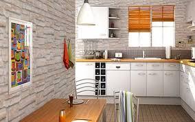 cuisine avec brique mur de brique dans un salon 13 chouette la cuisine avec un