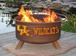 University Of Kentucky Home Decor Amazon Com Patina F219 University Of Kentucky Fire Pit Patio