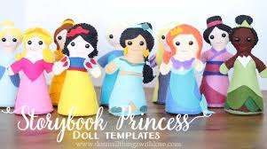 storybook princess doll template u2013 do small things with love