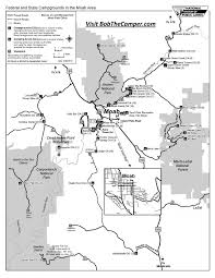 Moab Utah Map by Arches National Park Moab Utah Campgrounds And Camping Areas