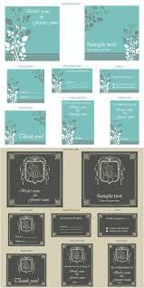 wedding stationery sets wedding stationery set vector vector graphics
