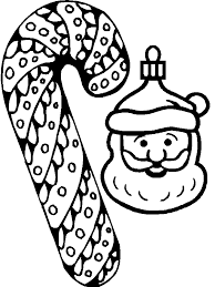 candy canes santa face coloring pages coloring pages
