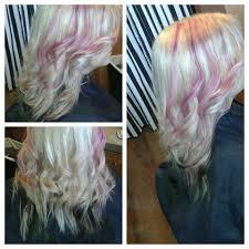 platinum blonde and dark brown highlights platinum blonde hair with peekaboo pink highlights dark brown