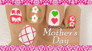 Mother S Day Designs Mother U0027s Day Nail Art Designs Pink Criss Cross Hair Bows