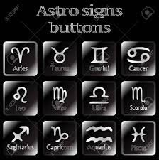 astro sign dark astro sign buttons abstract art illustration stock photo