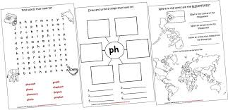 Ph Worksheet Digraphs Lapbook And Worksheets Ph Iman S Home