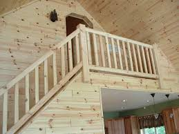 log stairs and half log stairways
