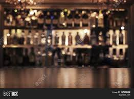 empty wooden bar counter defocused image u0026 photo bigstock