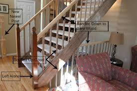 Sanding A Banister Open Tread Stairway Remodel Our Life Our Love