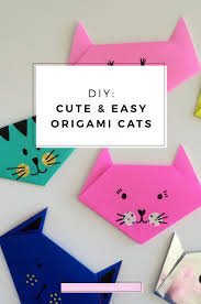 diy easy and cute origami cats visit japan beautiful stories
