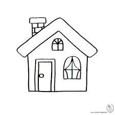 casa disegno disegno di casa con camino da colorare per bambini