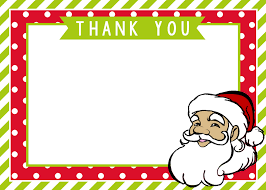 christmas thank you cards christmas crafts thank you santa card mimi s dollhouse