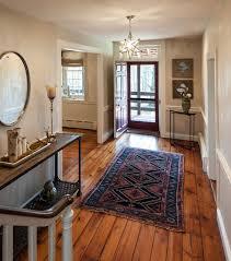 Pine Chair Rail - heart pine flooring bathroom eclectic with 3 6 subway tile black