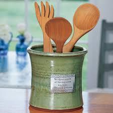kitchen utensil canister monticello stoneware utensil crock