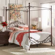 Four Poster Canopy Bed Frame Wrought Iron Canopy Bed Frame Four Poster Antique 4 Scroll Metal