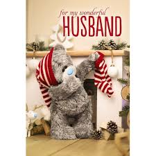 wonderful husband 3d christmas card me to you tatty teddy bear