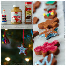 how to make cinnamon applesauce ornaments crafty morning