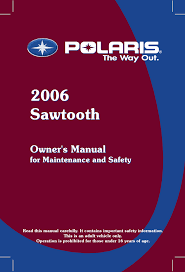 polaris offroad vehicle sawtooth user guide manualsonline com