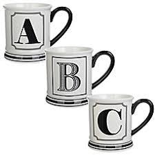 Letter Monogram Formations Block Letter Monogram Mug Bed Bath U0026 Beyond