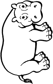 hippo coloring pages amazing mother hippo and her baby in the