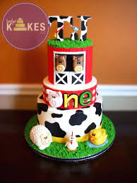 barn cake topper barnyard cake toppers farm animal e i o all 3 tiers iced in