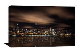 Home Decor Chicago Chicago Skyline Photograph Museum Quality Canvas Photo John