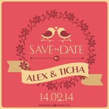 save the date cards free save the date wedding card template vector 123freevectors