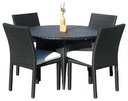 Round Patio Furniture Set Dining Table Nevada Rattan Dining Table 6 Chairs Wicker Base And