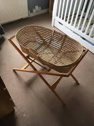 mummas and papas moses basket for baby crib cot in colinton