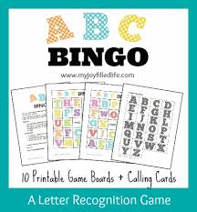 printable alphabet recognition games 5 days of letter recognition activities abc bingo my joy filled life