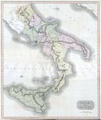 Map Of Lake Como Italy by Map Of South Italy And Sicily You Can See A Map Of Many Places