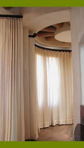 decorating curved window curtain rod for beautiful bay windows in