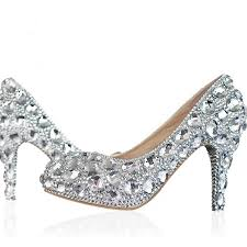 wedding shoes closed toe silver wedding shoes clear rhinestone platform closed toe 3 bridal