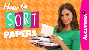 alejandra tv video how to sort papers paper organizing tips part 1 of 2
