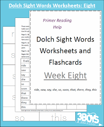 dolch sight words worksheets week eight u2013 3 boys and a dog