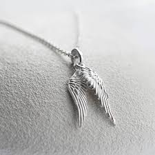 necklace with angel wings images Sterling silver angel wings necklace by martha jackson sterling jpg