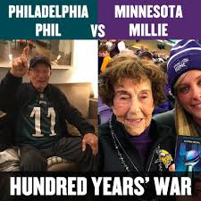 Super Bowl Sunday Meme - minnesota vikings fan millie sunday night football on nbc
