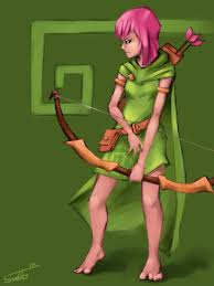 wallpapers arcer quen clash of clash of clans archer by tunnelrunner on deviantart