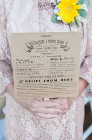 Printed Wedding Programs A Touch Of Yellow Inspired Outdoor Wedding In Douglasville Ga