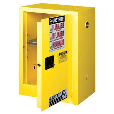 Justrite Flammable Liquid Storage Cabinet Justrite Compac 12 Gallon Yellow Storage Cabinet For Flammable