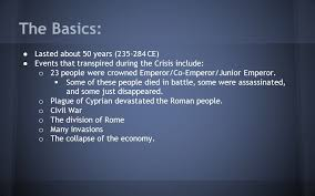 how 2 events 50 years the crisis of the third century ppt