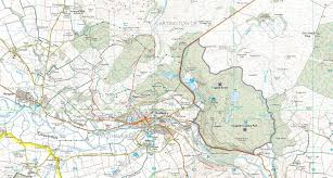 map of rothbury treks and tours northumberland day 2 9th may above rothbury walk