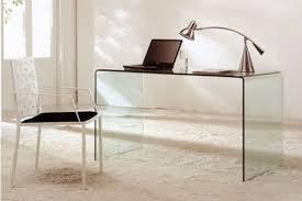 Glass Desk Modern Modern Bent Glass Office Desk Cr09 Desks