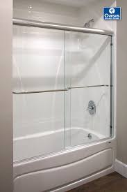 Shower Doors Reviews Frameless Hinged Tub Door Bathtub Doors Lowes 3 Panel Shower