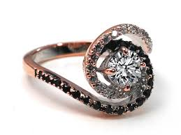 Black Gold Wedding Rings by Rose Pink Gold Engagement Rings From Mdc Diamonds Nyc