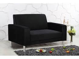 canapé fixe 2 places tissu canapé fixe tissu 2 places noir 78573 78701